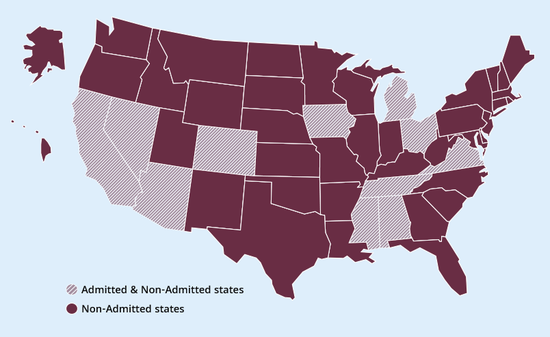 admitted non-admitted states
